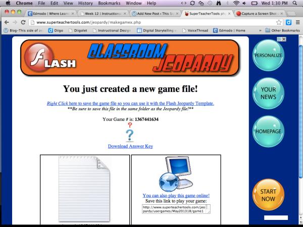 image, screen shot Jeopardy preparation